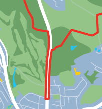 Dual carriageway detour