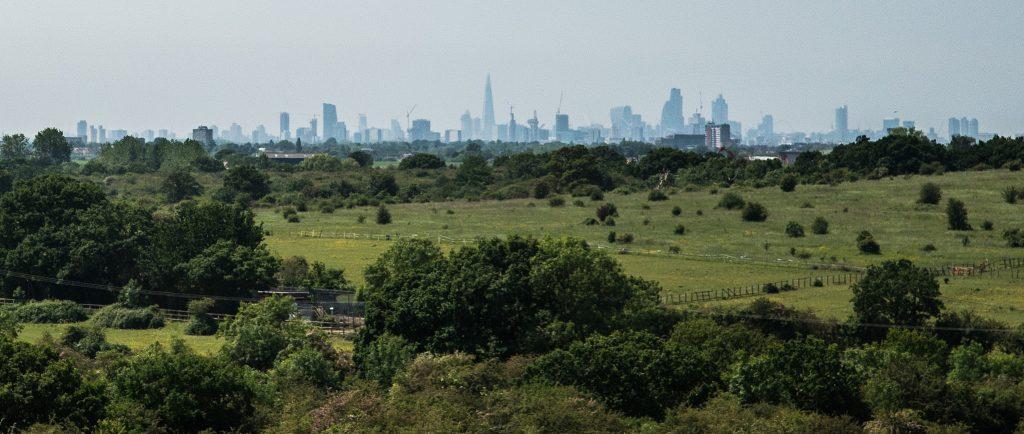 City skyline, 14 miles